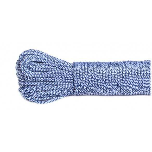Paracord Type III 550 White Blue Snake