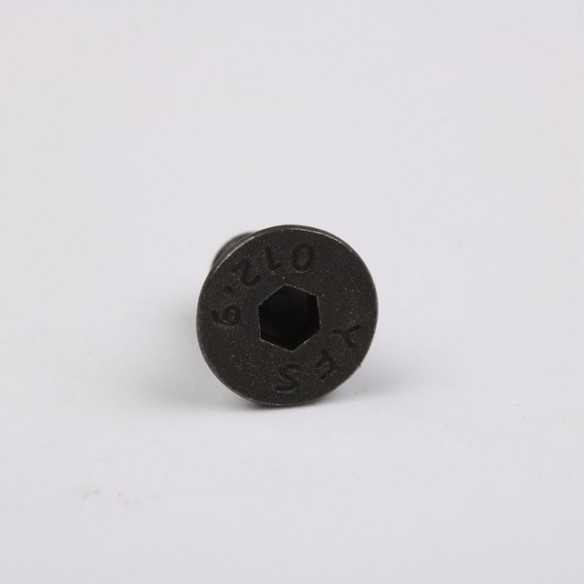 Vite Esagonale Black Piatta M4