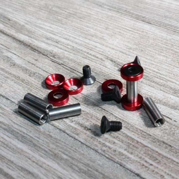 Hex Screws 19 x 5 mm Red