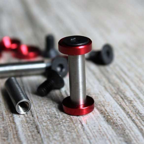 Hex Screws 22 x 5 mm Red