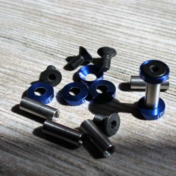 Hex Screws 19 x 5 mm Blue
