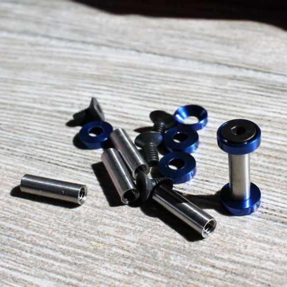 Viti Esagonali 22 x 5 mm Blu