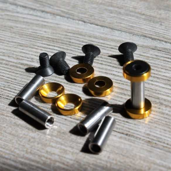 Hex Screws 19 x 5 mm Gold