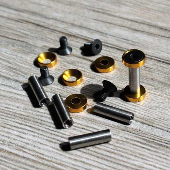 Hex Screws 22 x 5 mm Gold
