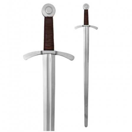 Crusader Sword with leather scabbard