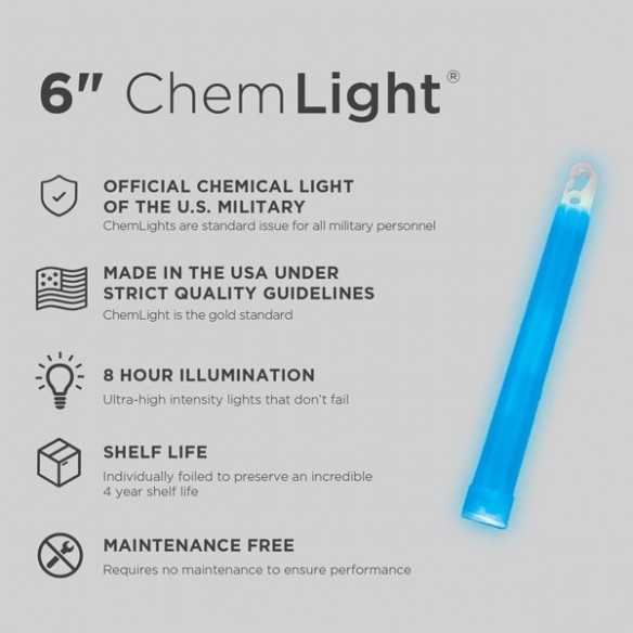 Cyalume ChemLight Blue 8H
