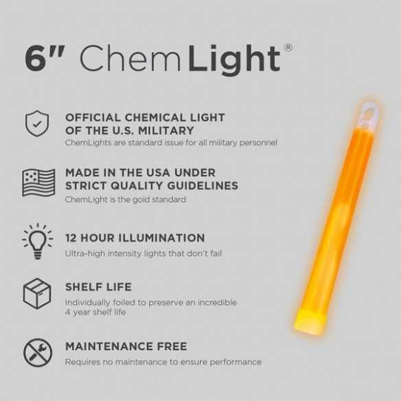 Cyalume ChemLight Orange 8H
