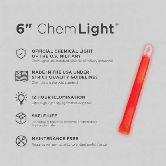 Cyalume ChemLight Red 12H