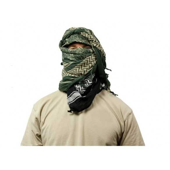 Red Rock Outdoor Gear Shemagh Head Wrap Khaki/BLK