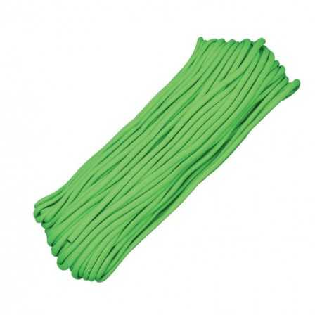 Paracord 7 strand 550lbs - 250kg Lime Green 100ft (30m)