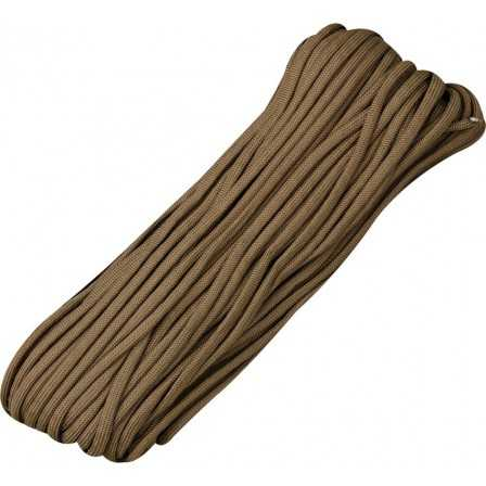 Paracord 7 strand 550lbs - 250kg Brown 100ft (30m)