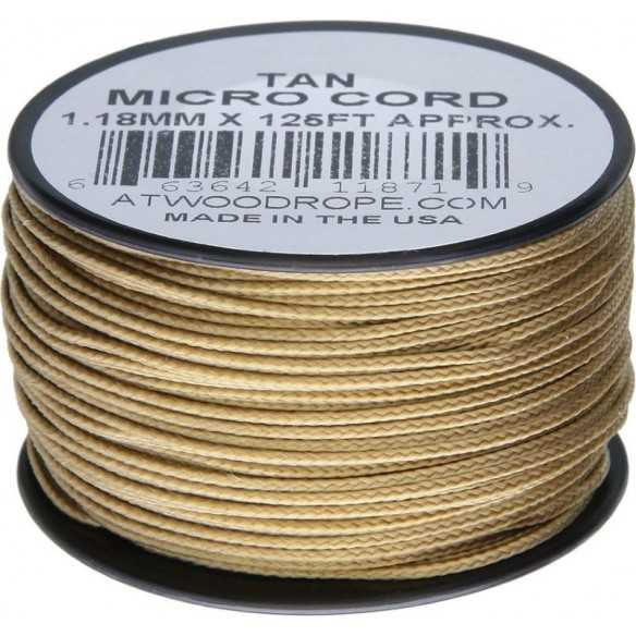 Microcord 1.18 mm Tan 40 m