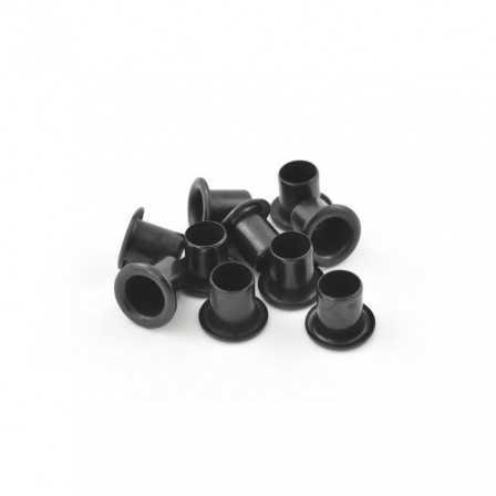 1/4 Eyelet Black 8,4x6,4 mm/10 pcs