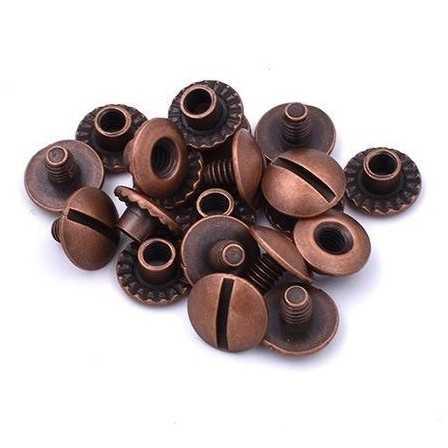 Chicago rivets Open Antique 3,5 mm 10pcs