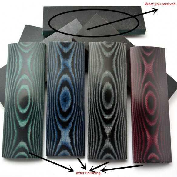 Black-Blue Micarta Scales...