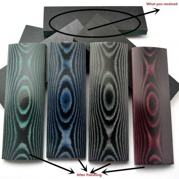 Black-Red Micarta Scales...