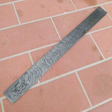 Damascus steel Random 15N20-1095 4x40x500 mm
