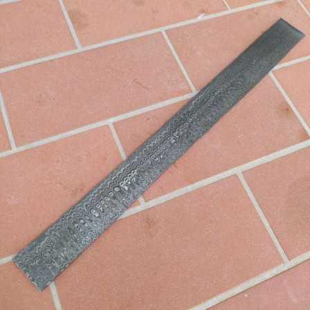 Damascus steel Snake 15N20-1095 4x40x500 mm