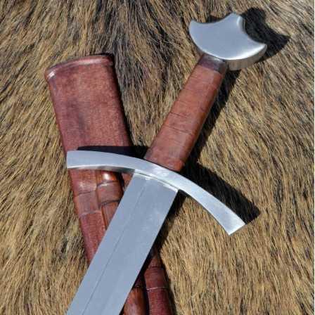 High Medieval Knightly Sword w. scabbard practical blunt