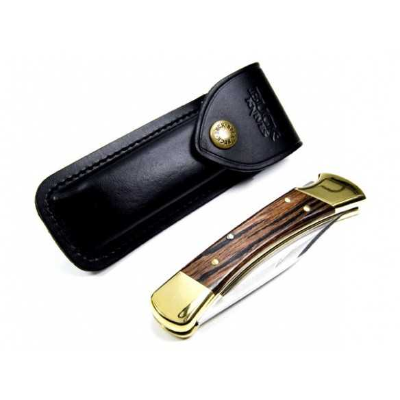 Buck 110 Folding Hunter Leather