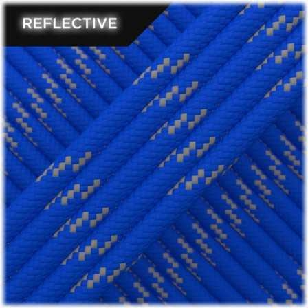 Paracord Type III 550 reflective blue