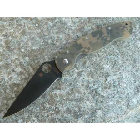 Spyderco Military black camo