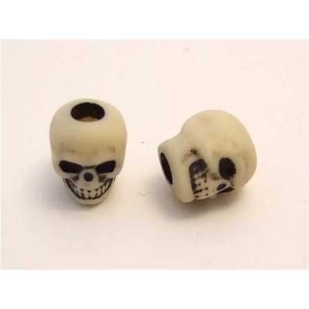 Skull bead / Antique Ivory