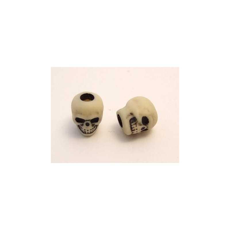 Skull bead / Antique Ivory