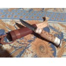 Woodjewel Puukko visakoivutupella / Knife with curly birch sheat