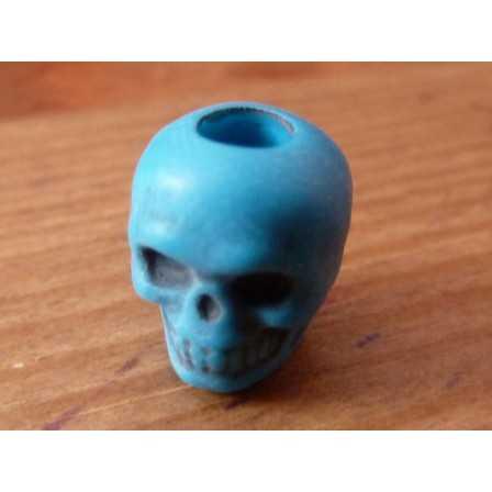 Skull bead / Neon Turquoise
