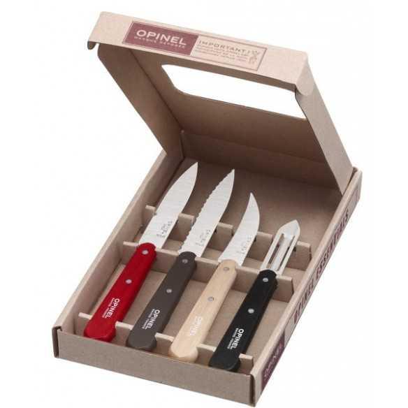 Opinel Essentiels Loft 4 coltelli da cucina