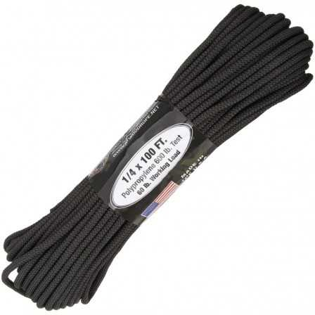Paracord 7 strand 550lbs - 250kg Black 100ft (30m)
