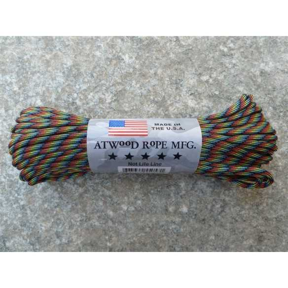 Paracord 7 strand 550lbs - 250kg Dark Stripes 100ft (30m)