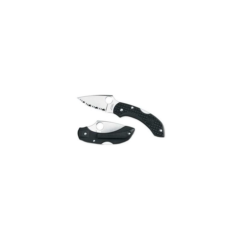 Spyderco Dragonfly black serrated Vg-10
