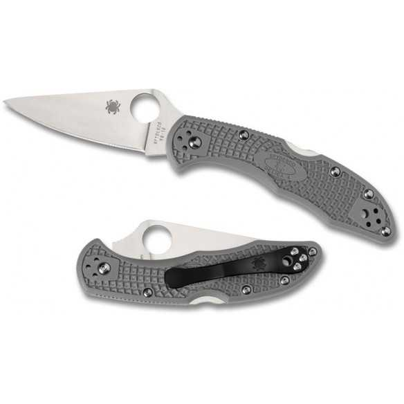 Spyderco Delica 4 flat ground Gray