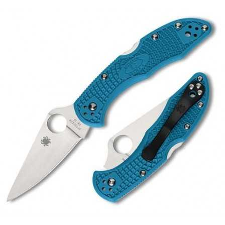 Spyderco Delica 4 flat ground Blue
