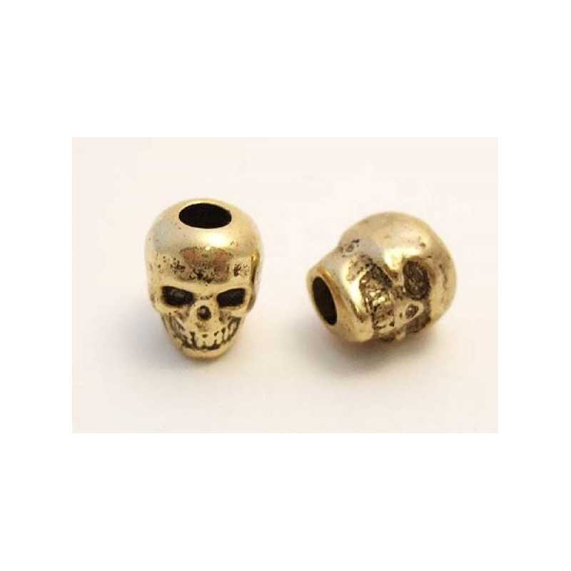 Skull bead / Gold Plated