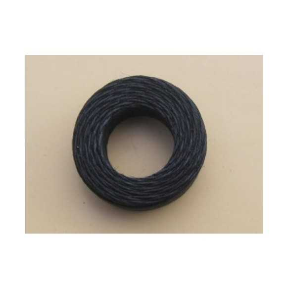 Black linen thread 22 m - Filo cerato nero