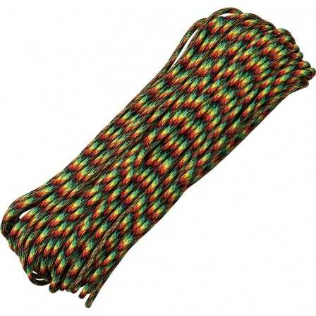 Paracord 7 strand 550lbs - 250kg Jamaican Me 100ft (30m)