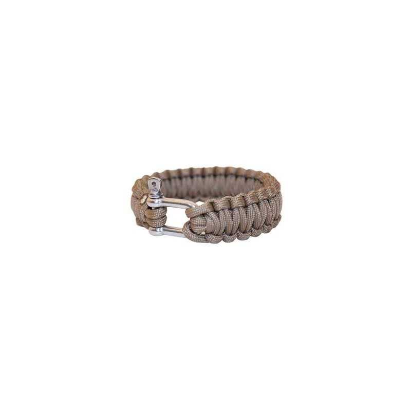 "BCB 9"" PARACORD BRACELET - COYOTE - WITH METAL CLOSURE"
