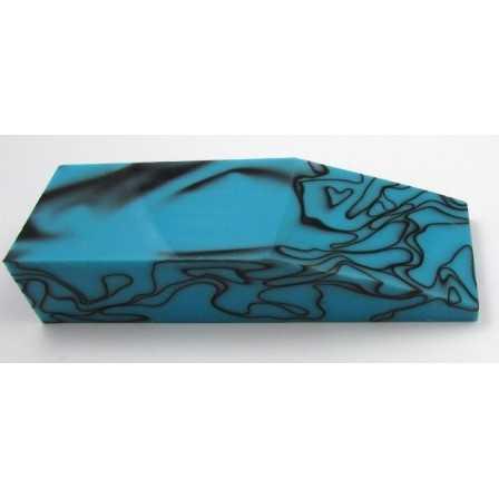 Acrylic Black in Turquoise block