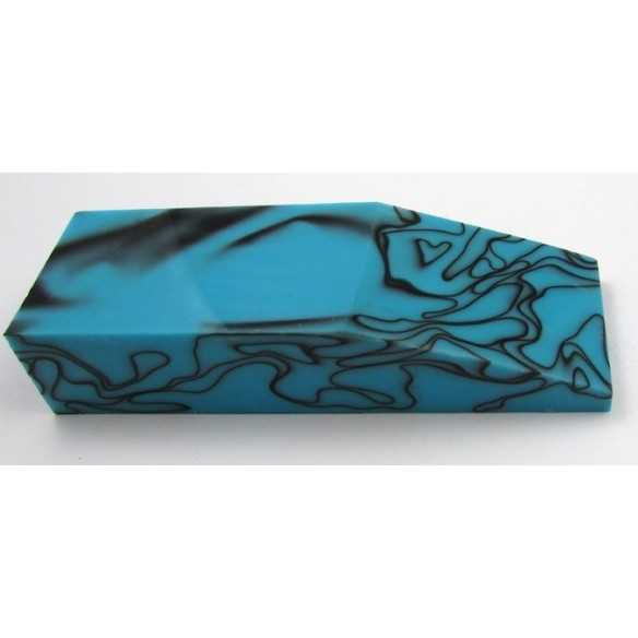 Acrylic Black in Turquoise block